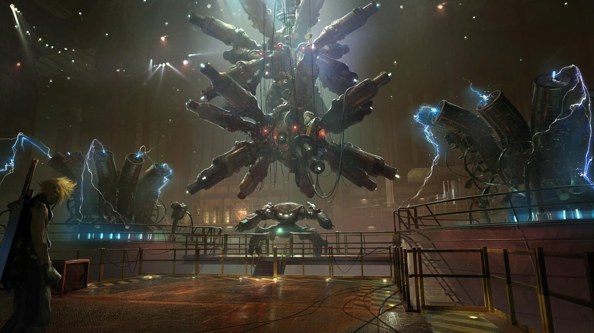 《最终幻想7:重制版》 新概念设计图 游戏场景美轮美奂