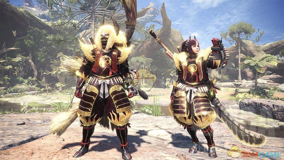 《怪物猎人:世界》金狮子套装外观一览
