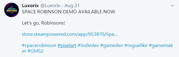 游戏新消息:硬核动作RPG太空罗宾逊DEMO登陆Steam平台
