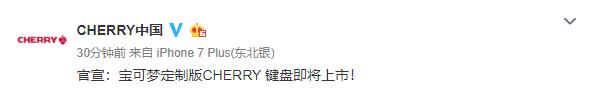 一键十万伏特 Cherry宣布将推出《宝可梦》定制键盘