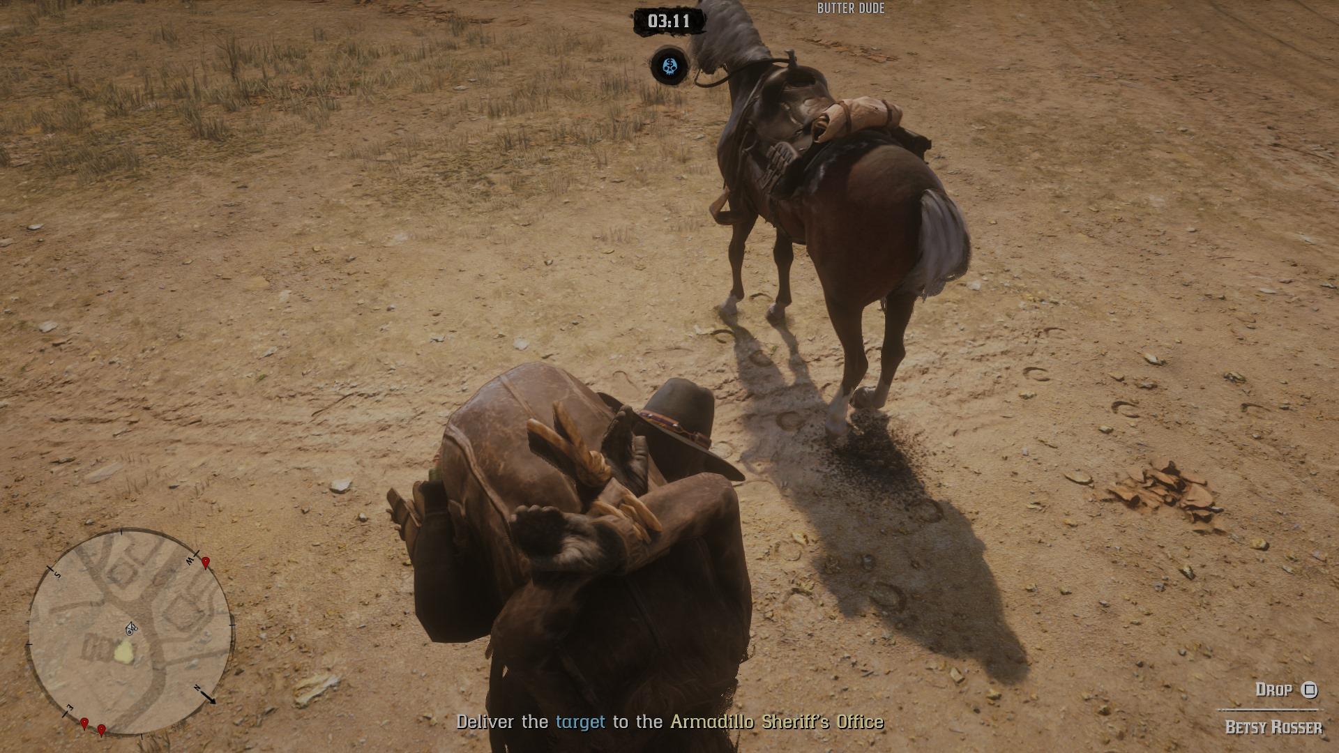 吃撑了?我的马儿在《荒野大镖客2》中疯狂拉屎