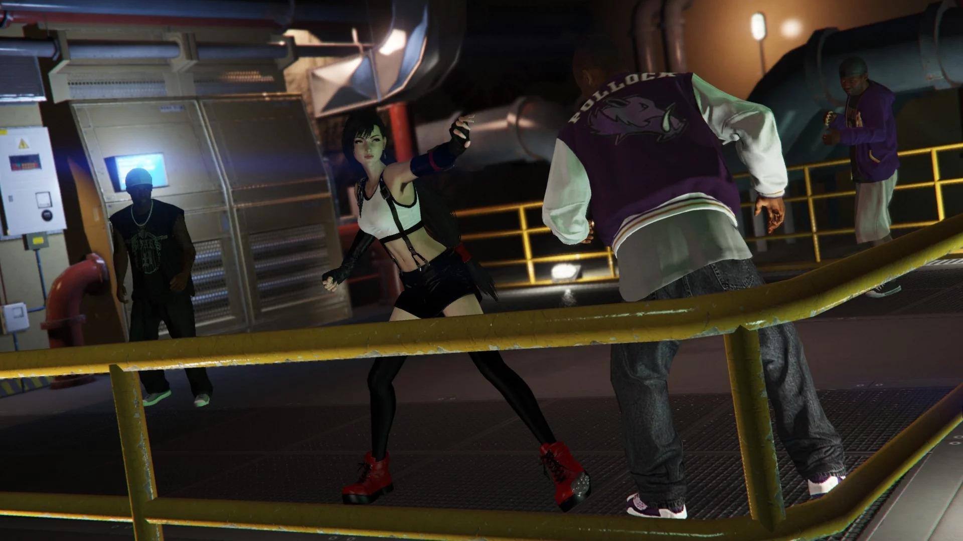 """《GTA5》里能玩""""蒂法""""了!这谁顶得住啊"""