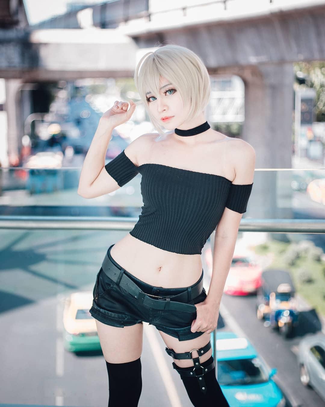 泰國美女Coser性感美圖欣賞 膚滑勝雪身姿誘人