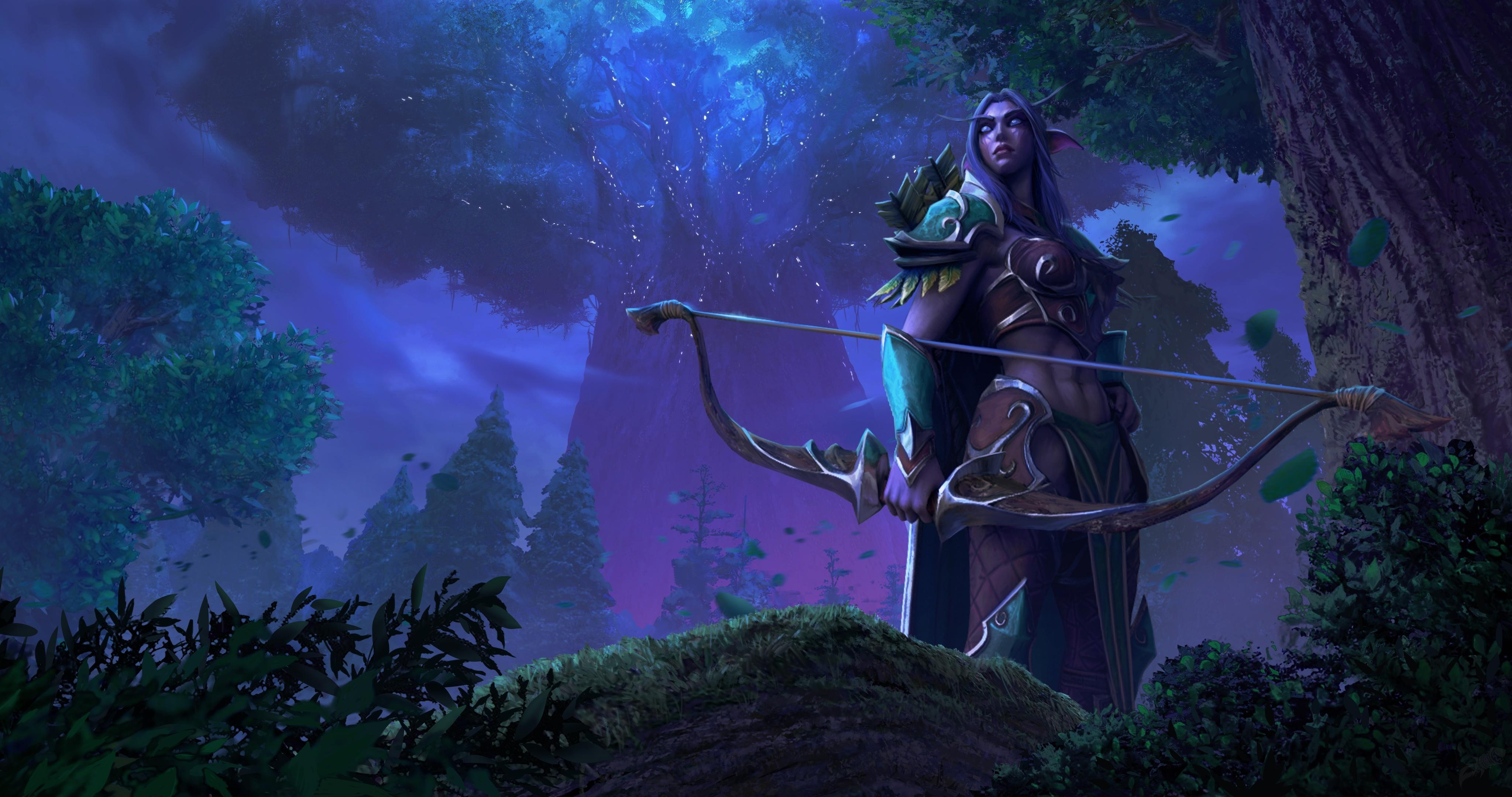 《魔兽争霸3:重制版》角色模型 暗夜精灵乘月而来