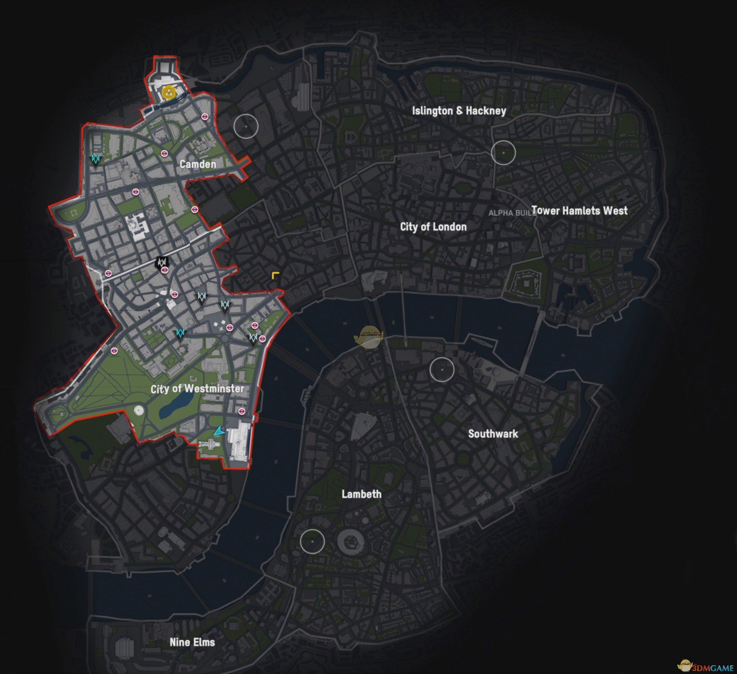 《看门狗:军团》地图总览图介绍