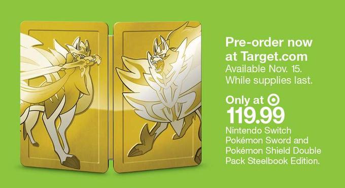 《精靈寶可夢:劍/盾》公布豪華版 金色鐵盒包裝