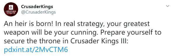 P社《十字军之王3》宣传片公开!2020年正式发售