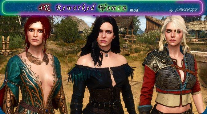 《巫师3》新MOD为三大妹子更换4K超清贴图