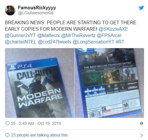 一份250美刀!《COD:现代战争》偷跑网上公然兜售