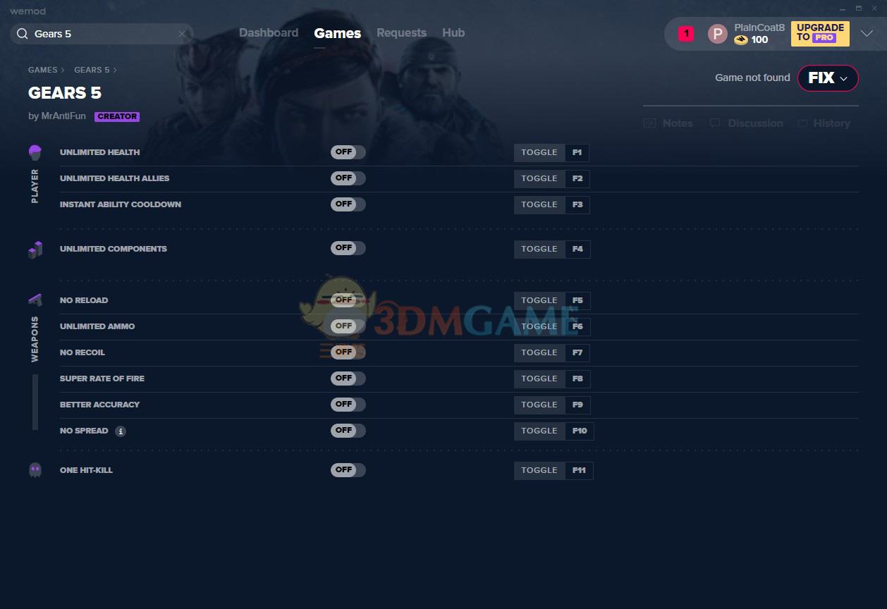《战争机器5》v2019.10.19十一项修改器[MrAntiFun][Steam]