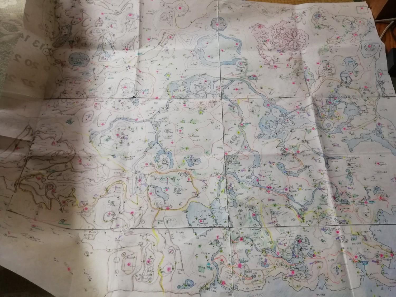 妈妈亲手绘制的《荒野之息》地图 所有细节全标注