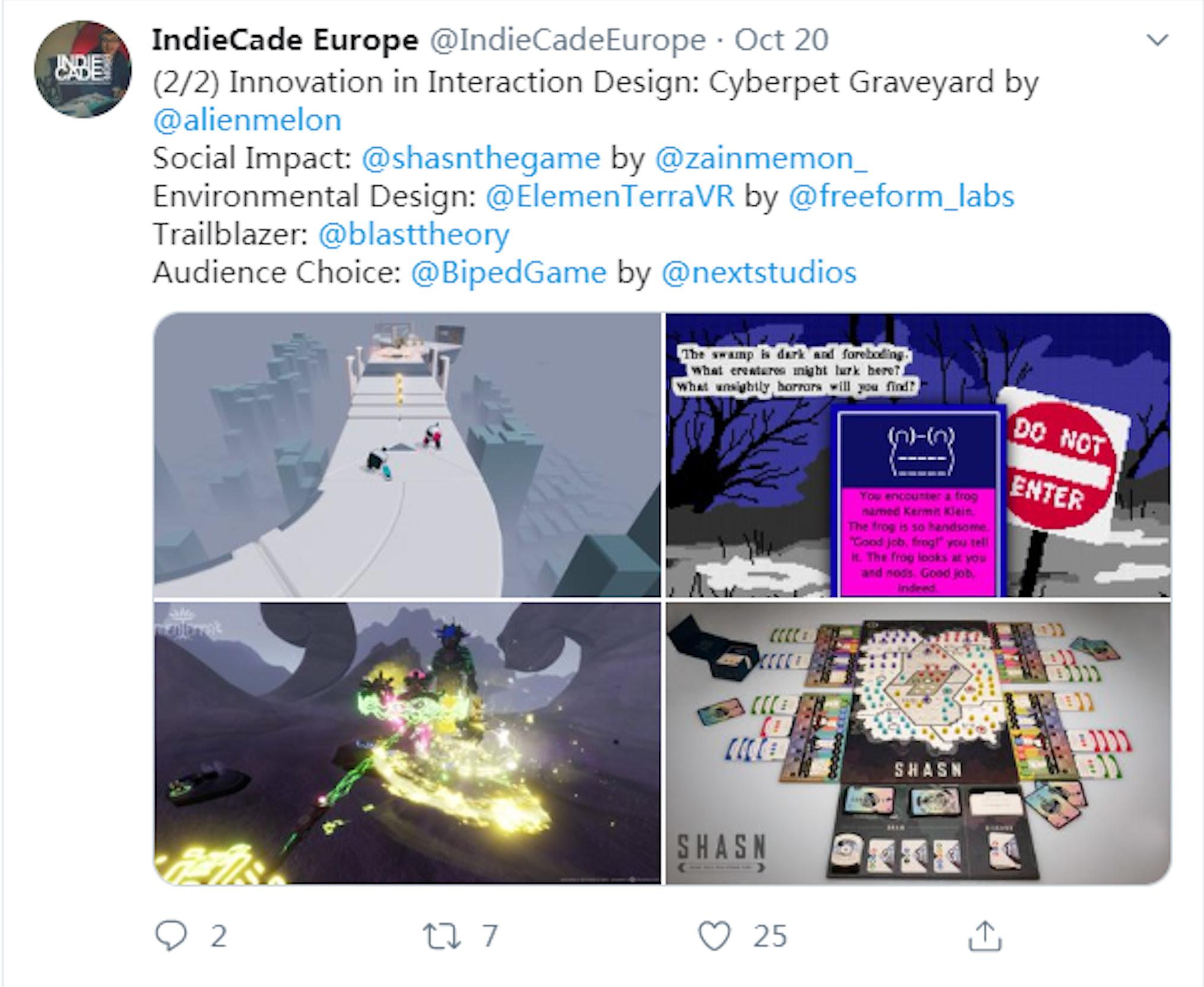 NExT Studios新作《Biped》获IndieCade大奖