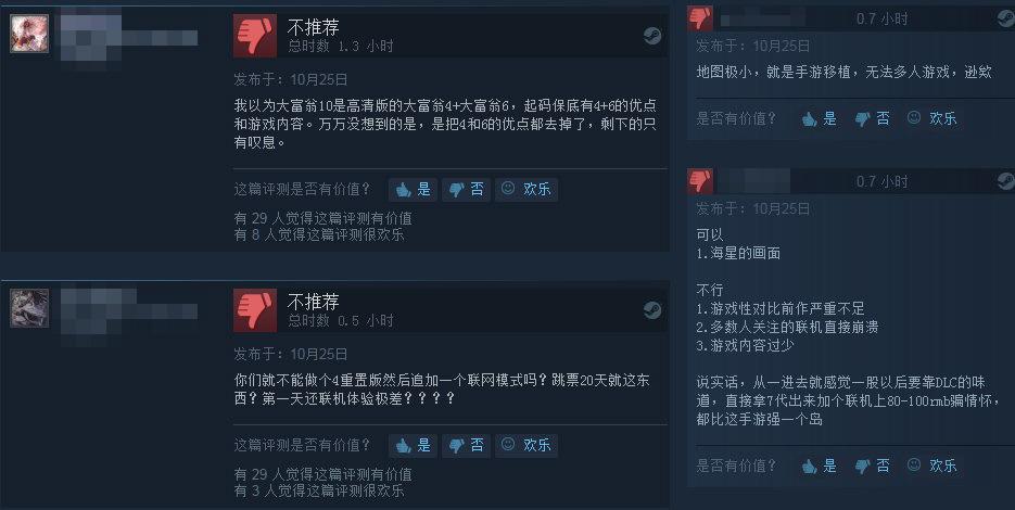 《大富翁10》Steam多半差评 失去灵魂情怀已不在