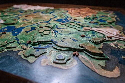 《塞尔达传说》玩家自制木板地形图还原《旷野之息》