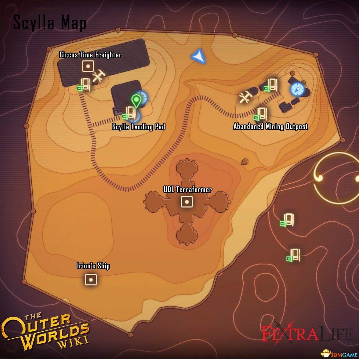 《天外世界》斯库拉关键地点及传送点位置分享