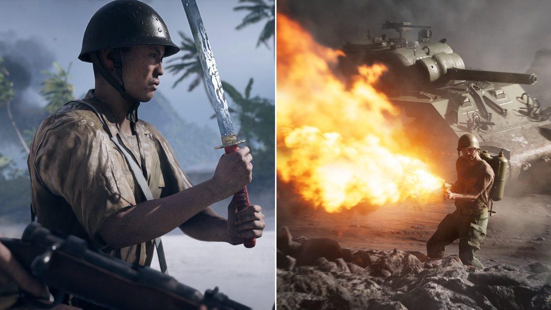 《战地5》 太平洋战争演示来了 美国大兵用日本武士刀砍翻日军