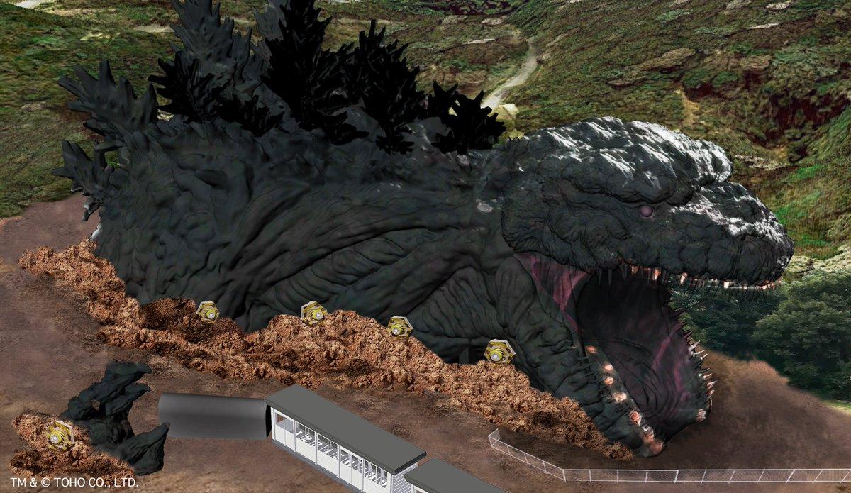 日本动漫主题乐园将推出哥斯拉游乐设施 超震撼