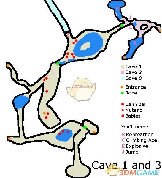 《森林》潮湿洞穴(电锯洞穴)内部地图及盘点一览