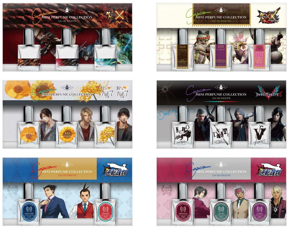 卡普空东京商店推出《怪猎》《鬼泣》等香水套装