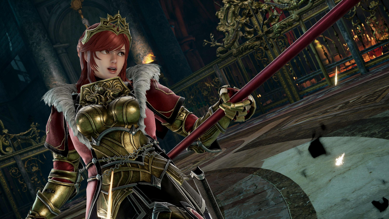 《灵魂能力6》DLC角色希尔德截图 重甲女战士强悍