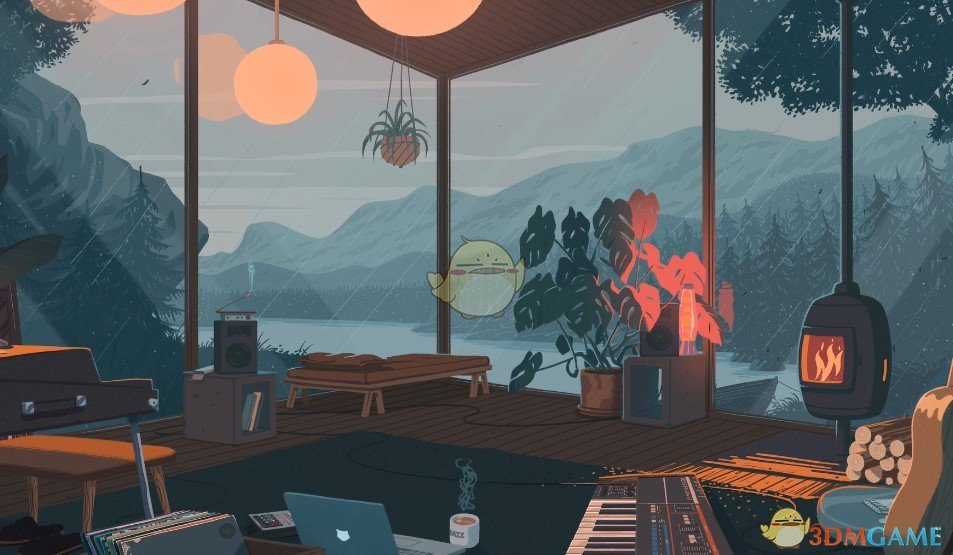 《Wallpaper Engine》动画风日式透明旅居动态壁纸