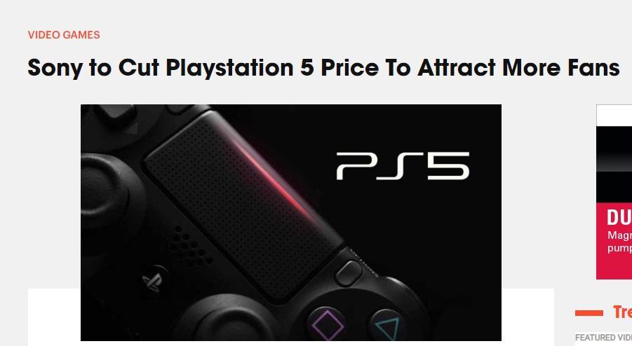 PS5可能会降价吸引玩家 定价400-500美元更受认可