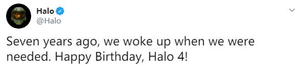 我们在被需要时苏醒 官方庆祝《光环4》发售7周年
