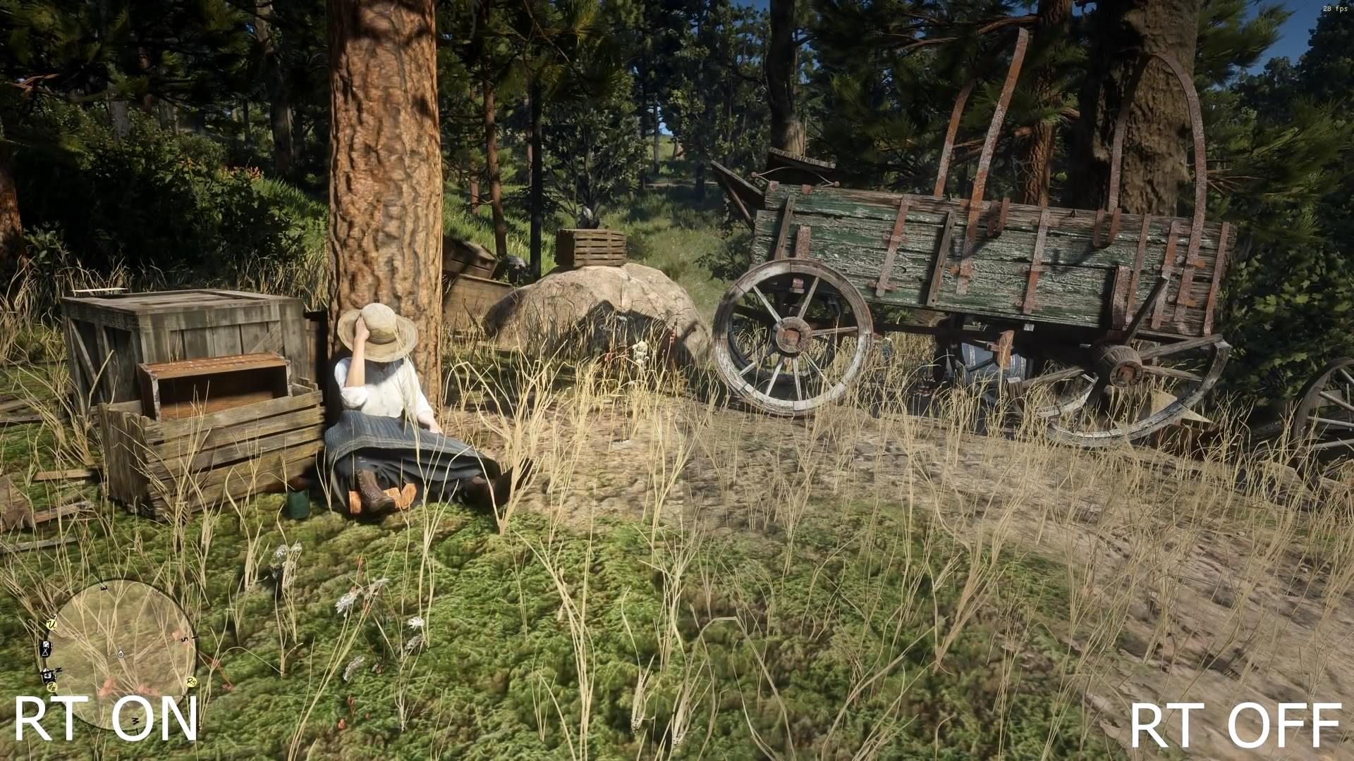 《荒野大镖客2》PC版光追Mod演示 画面更美了