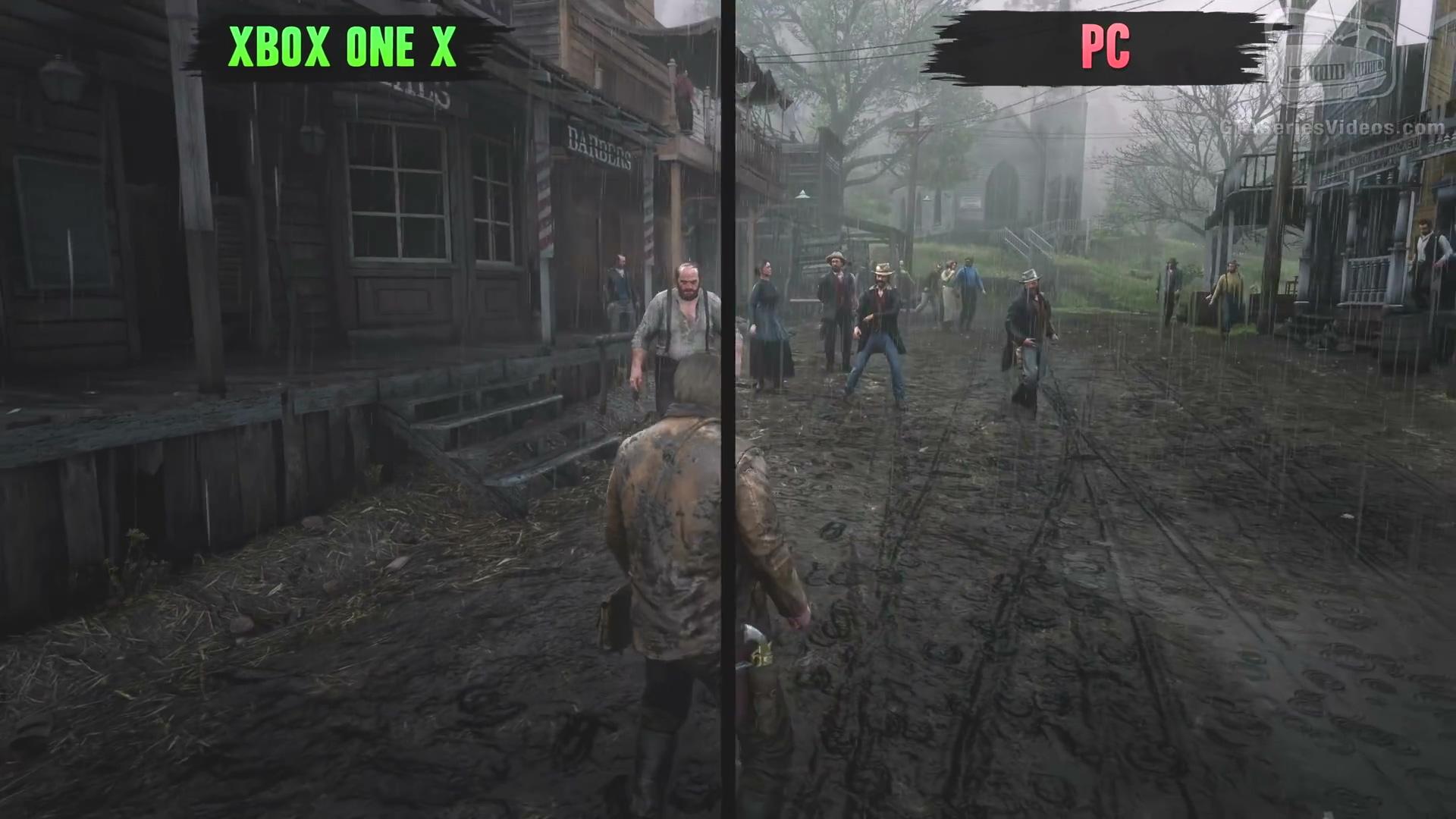 《荒野大镖客2》画面对比:PC vs X1X vs PS4 Pro
