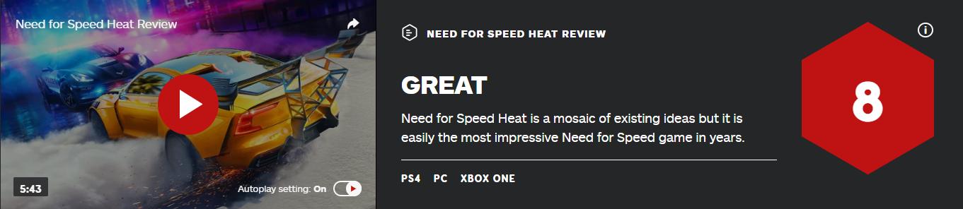 《极品飞车:热度》IGN 8分:几年来最好的《极品飞车》