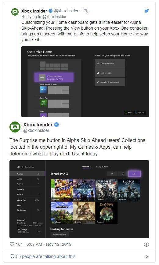 Xbox One测试随机开启游戏的「给我惊喜」按键
