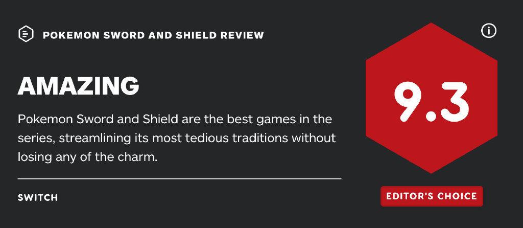 《寶可夢:劍/盾》獲高分引質疑 IGN編輯回懟網友