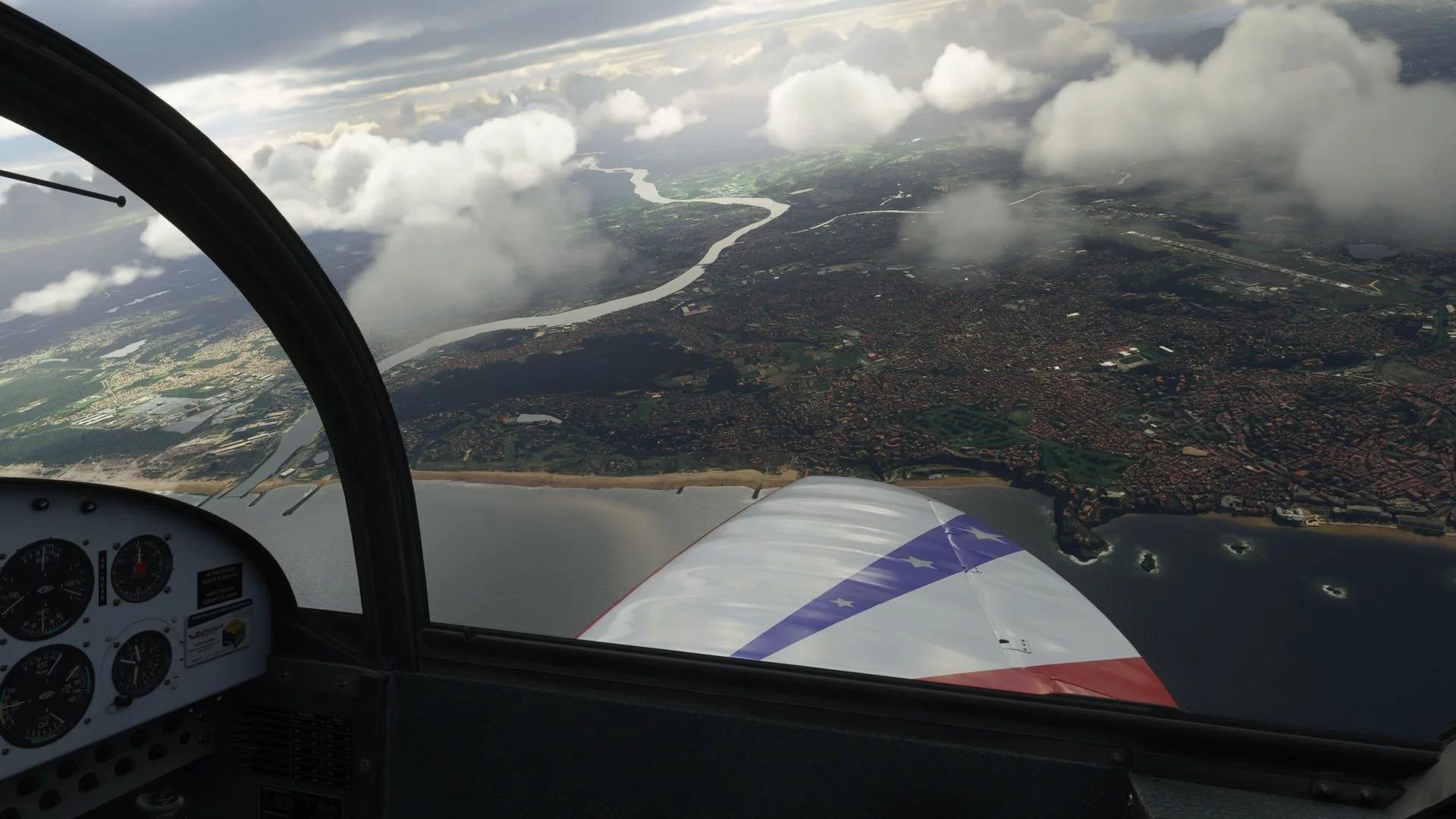 《微软飞行模拟》新截图太美了 蓝天白云驾机翱翔
