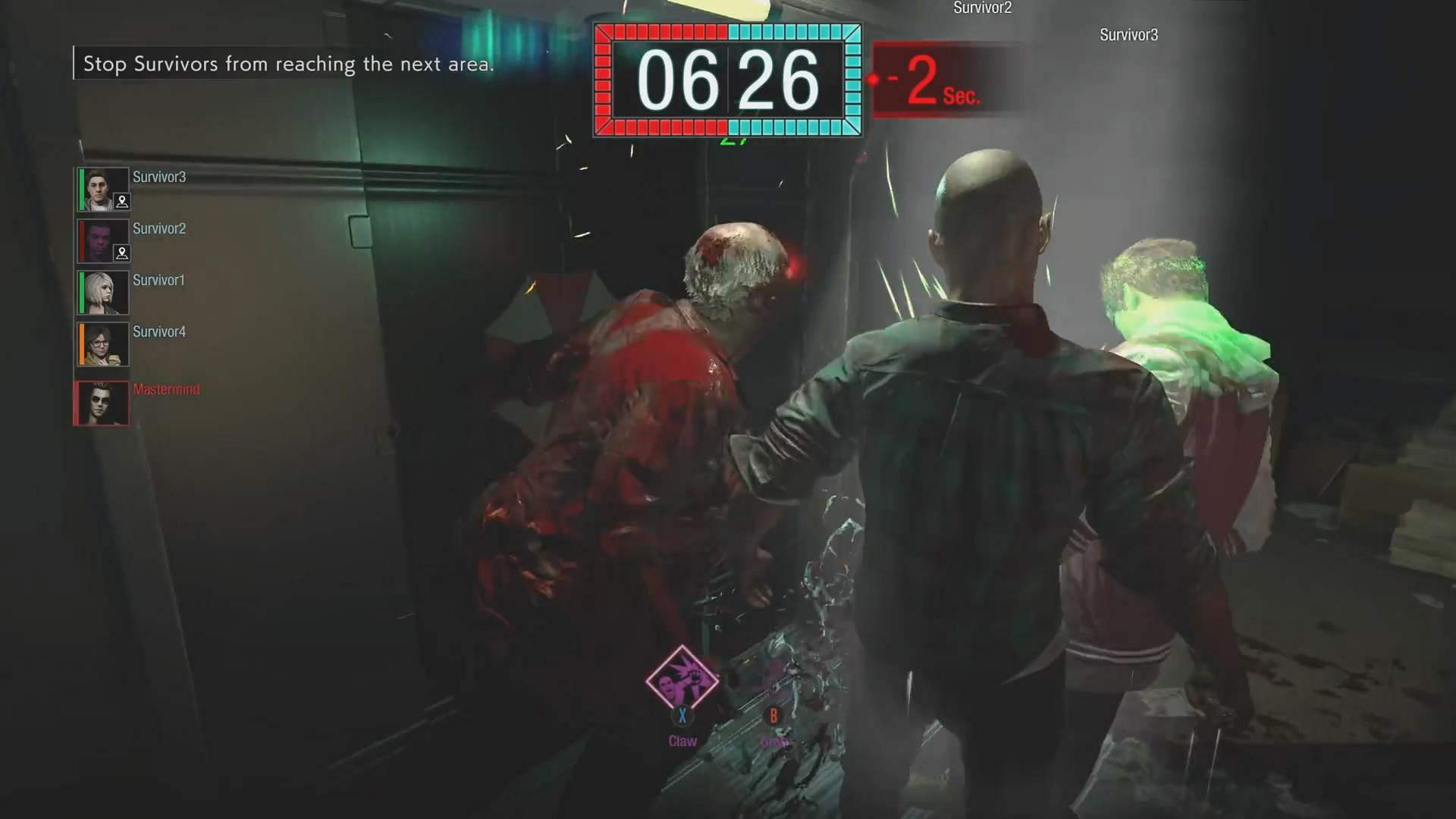 X019:生化新作《抵抗计划》演示 操控暴君杀人