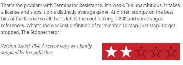 《终结者:反抗军》媒体评分解禁 IGN仅仅给出4分