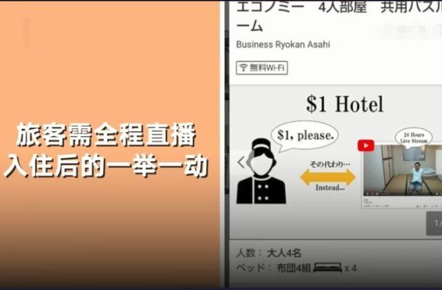 日本一旅馆一晚只需8.4元 但要被全程网上直播