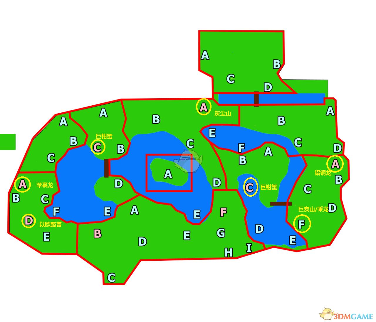 《宝可梦:剑/盾》旷野地区下半部分超极巨宝可梦分布图分享