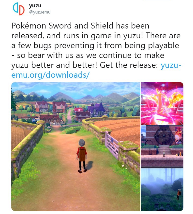 《宝可梦:剑/盾》已可被PC模拟器运行 基本25帧以上