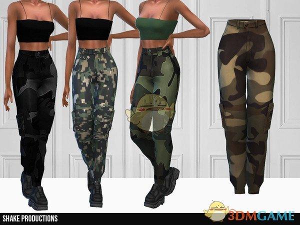 《模拟人生4》女款迷彩长裤MOD