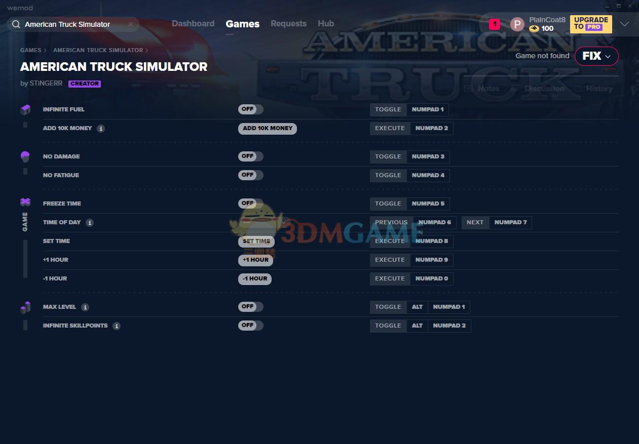《美国卡车模拟》v2020.01.10十一项修改器[MrAntiFun]