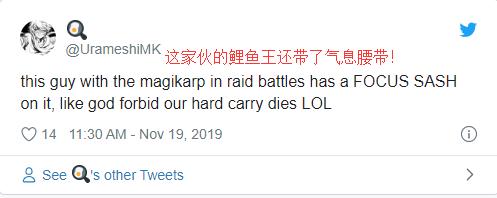 《剑盾》玩家因极巨化战斗中NPC/玩家使用鲤鱼王而抓狂