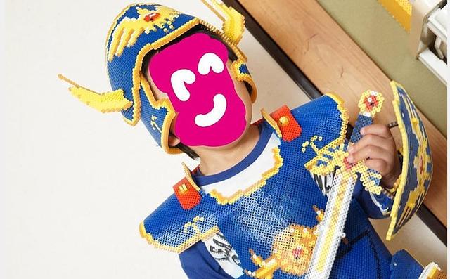 高玩用烫珠画给儿子打造DQ勇者衣装 完美匹配网友热赞