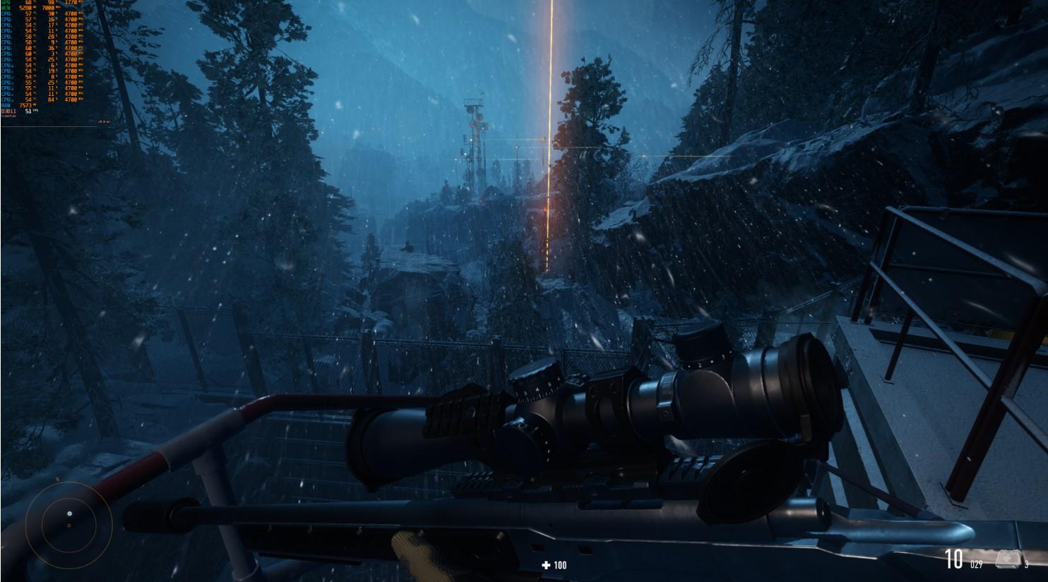 2080ti玩《狙击手:幽灵战士契约》1800p超高稳60