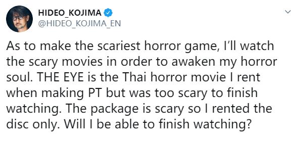 """小岛想开发""""最吓人的恐怖游戏"""" 将看大量恐怖片"""