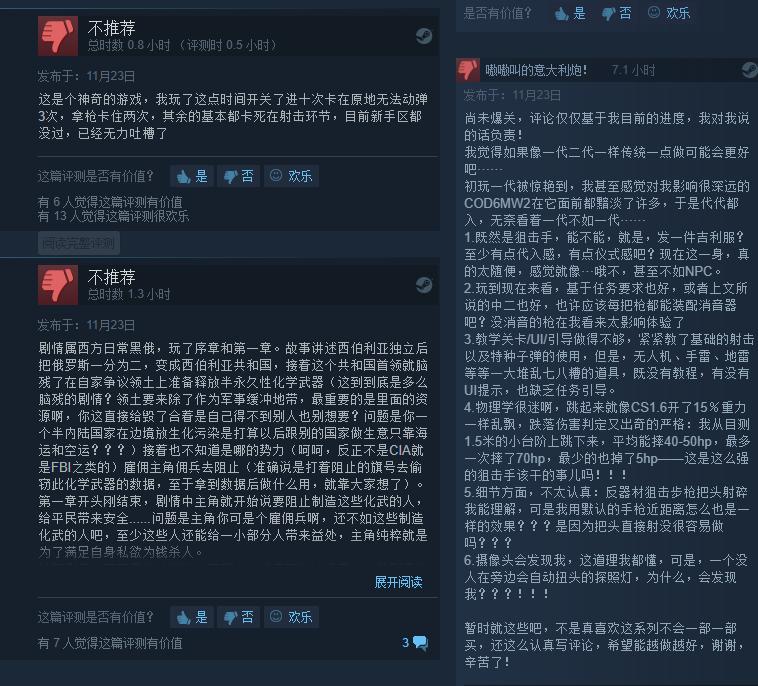 《狙击手:幽灵战士契约》Steam褒贬不一 当前特价促销