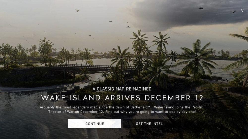 传《战地5》威克岛地图将于12月12日上线