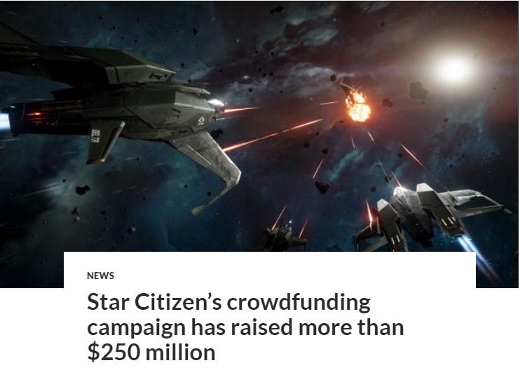 《星际公民》众筹金额超2.5亿美刀 人数达244万