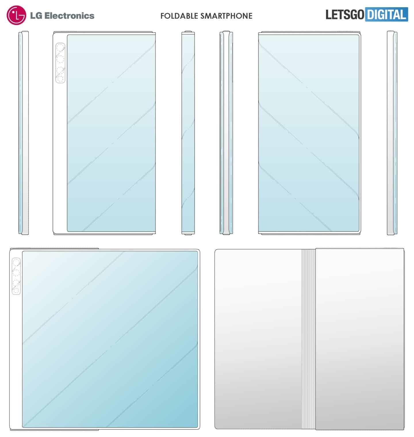 LG折疊屏設計專利曝光 與華為Mate X極為相似
