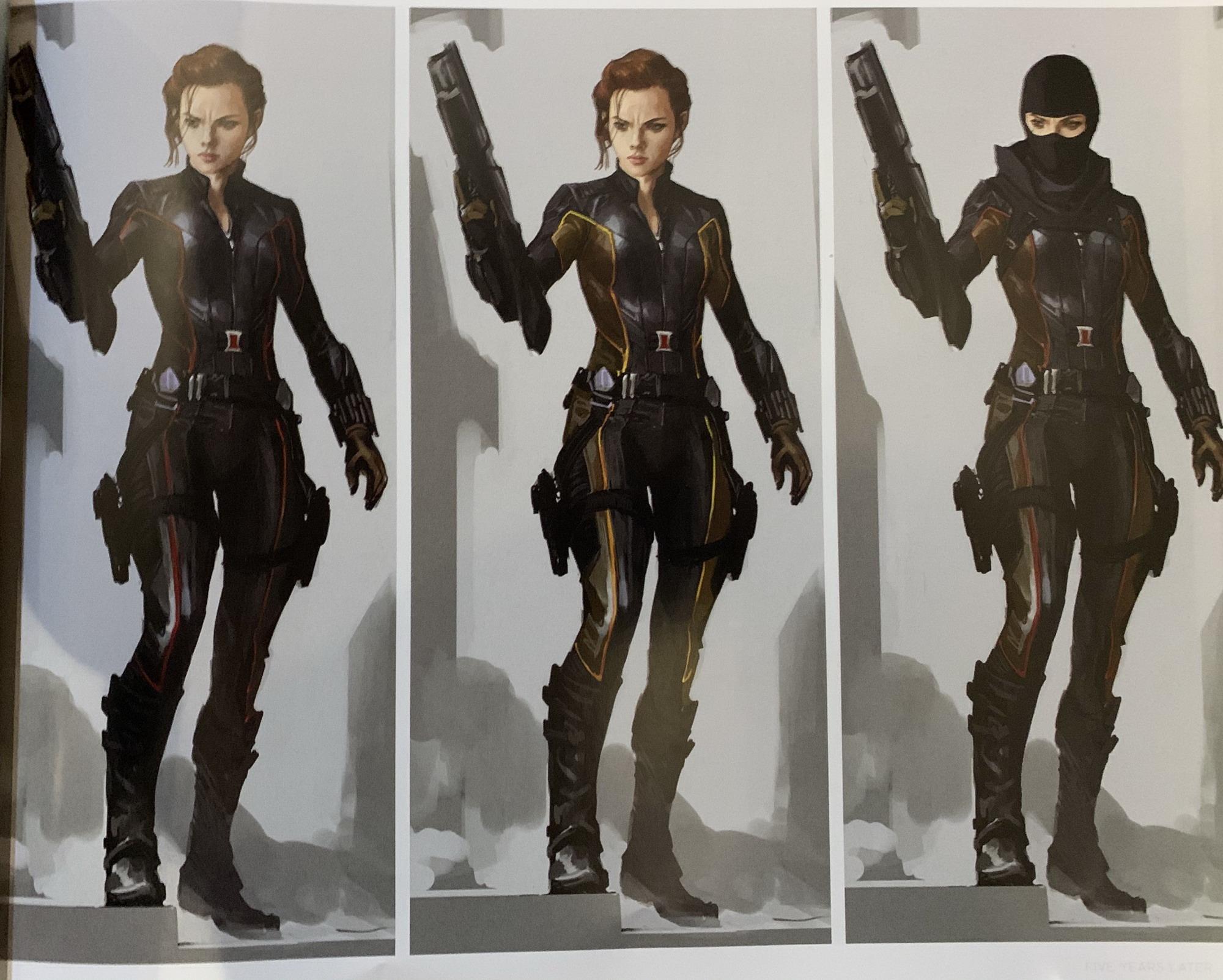 《复仇者联盟4》概念设计图曝光 黑寡妇也有浪人装