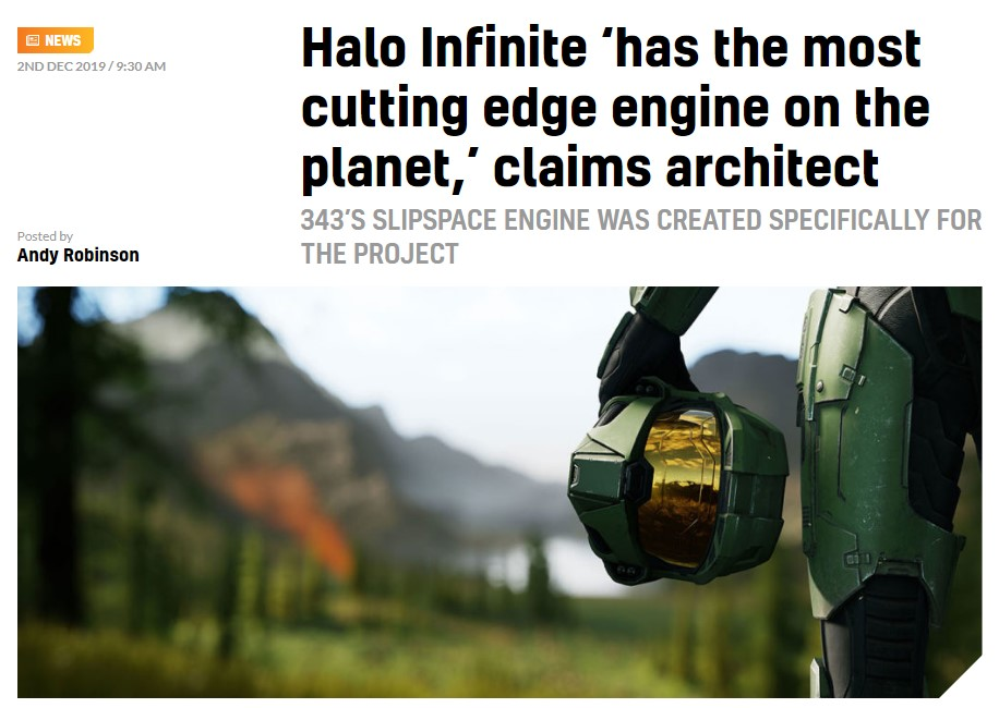 架构师:《光环:无限》将使用这个星球上最先进的3A游戏引擎